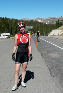 At the top of Wolf Creek Pass during Ride The Rockies in 2010. The previous year had been one full of challenges, and the 25th anniversary tour was a way to celebrate coming through it in one piece