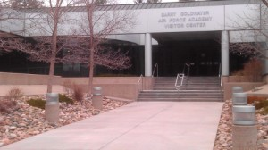 The AFA Visitors' Center has water, food, bathrooms and air conditioning.