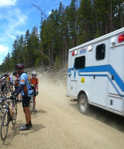 Most cyclists made room for the ambulance racing up Cottonwood Pass in 2011; But there were also those who didn't feel the urgency.