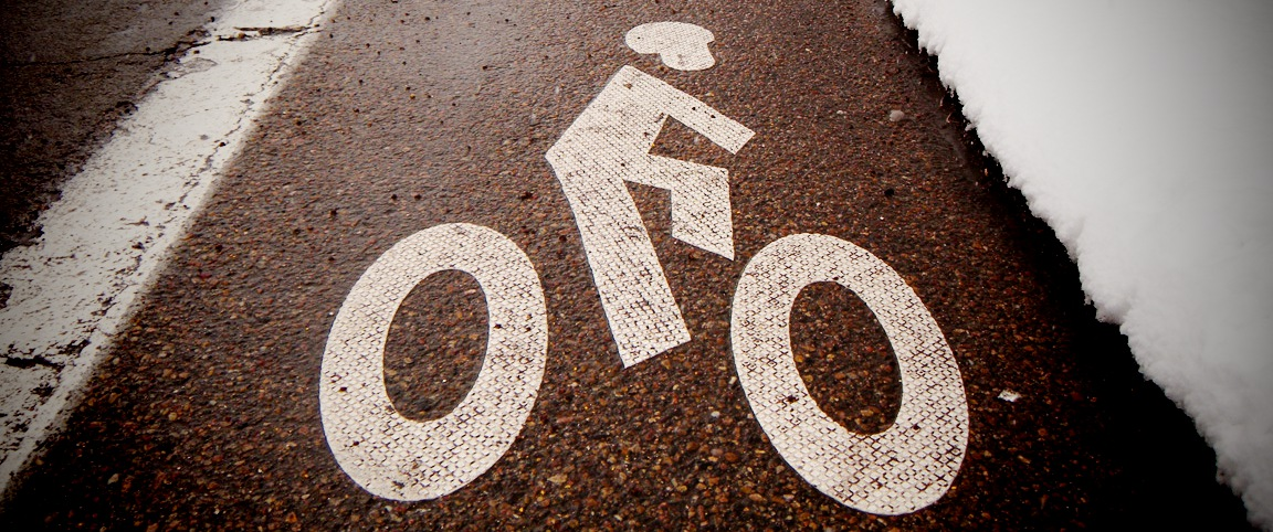 As long as the shoulders and bike lanes are clear of sand and snow, give it a go -- slowly.