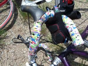 A simple way to add some crazy to a simple paint job is to jazz it up with handlebar tape!