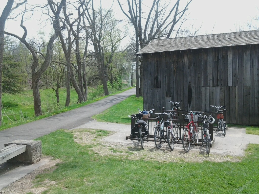 Towpath trail pit stop in early May