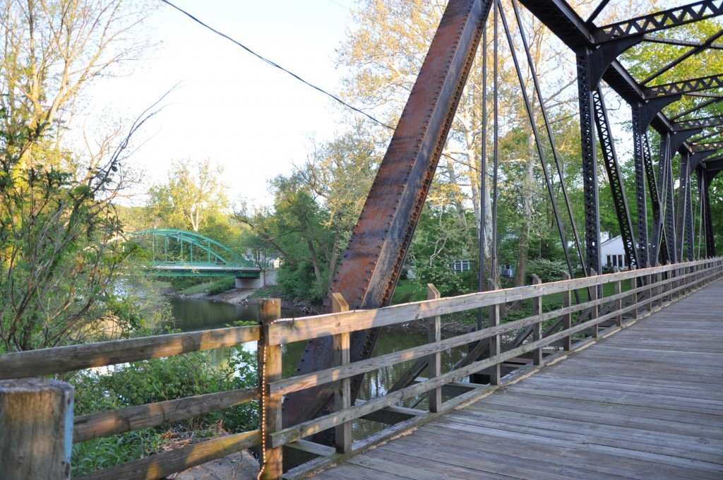 Footbridge across the Chagrin River