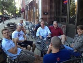 DCBC Members re-carbing at a post ride Pub Crawl.