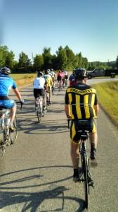 """Paceline on a typical Druid City Bicycle Club """"Tuesday Ride"""""""
