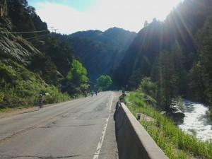 Gorgeous morning climbing Boulder Canyon.