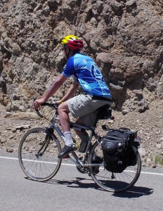 Doug's first day of Ride the Rockies in 2012. He wasn't sure what he would need.