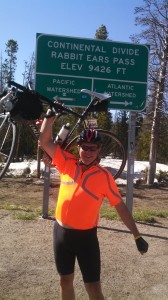 Gasper made it to Rabbit Ears Pass above Steamboat Day 2!