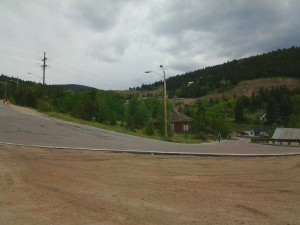Steep hills out of Central City and the weather starting to turn.