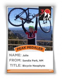 Vote for Bicyle Neophyte by liking or commenting on this pic (or using hashtag #neophyte and #ridetherockies on Twitter or Instagram).
