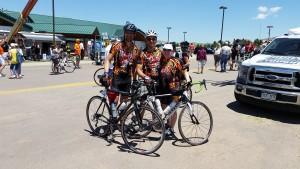 Team Blazing Saddles? at the finish line